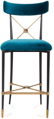Jonathan Adler Rider Counter Stool, Blue