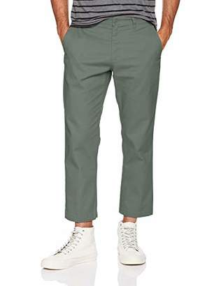 Obey Men's Straggler Slim Flooded Pants