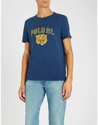 Polo Ralph Lauren Tiger-print cotton-marl jersey T-shirt