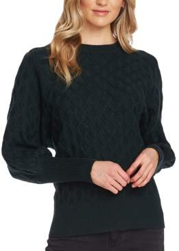 Vince Camuto Textured-Knit Crewneck Sweater