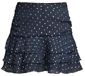 The Kooples Women's Ruffled Polka-Dot Mini Skirt