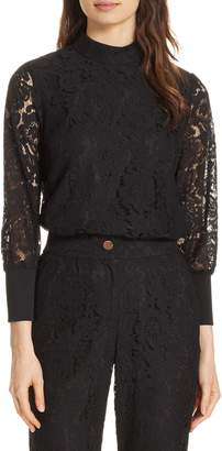 Ted Baker Dilly Lace High Neck Blouse