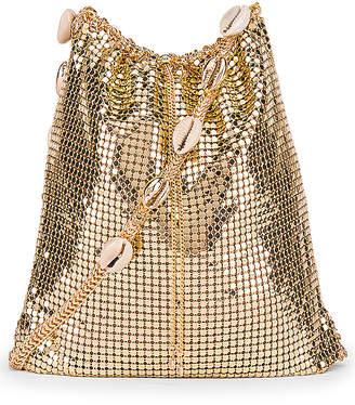 Ettika Shell & Gold Mesh Shoulder Bag