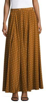 Diane von Furstenberg Flared Silk Maxi Skirt $498 thestylecure.com