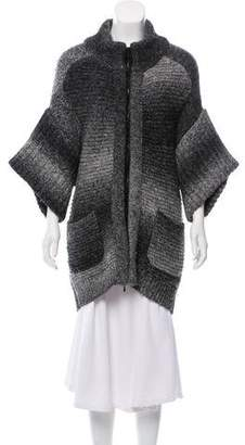 3.1 Phillip Lim Short Sleeve Zip-Up Sweater