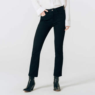 DSTLD Womens Mid Rise Skinny Bootcut Jeans in Black