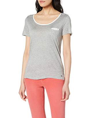 Mexx Women's T-Shirt, Grey Melange/Marshmallow 300162
