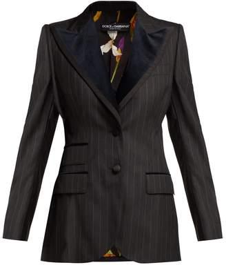 Dolce & Gabbana Single-breasted pinstripe wool-blend blazer