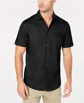 Tasso Elba Men's Button-Down Knit Shirt