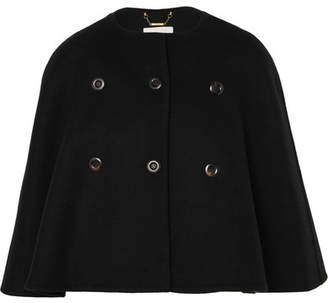 Chloé Wool And Cashmere-blend Cape - Black