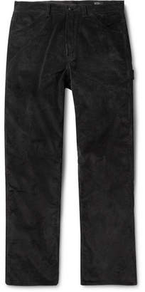 orSlow Black Cotton-Corduroy Trousers