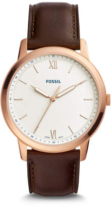 Fossil The Minimalist Three-Hand Java Leather Watch