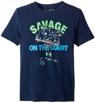 Under Armour Kids Savage on The Court Short Sleeve Tee Boy's T Shirt