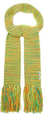 Acne Studios Tassel Knit Scarf - Womens - Green