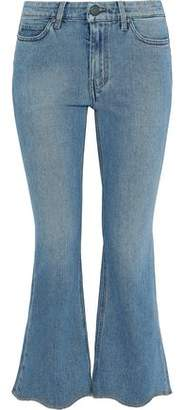 MiH Jeans Marty Frayed Low-rise Kick-flare Jeans