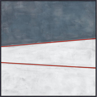 Lillian August - Blue White Red 1 Art