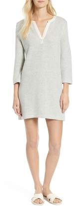 Lou & Grey Split Neck Tweed Dress