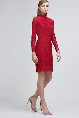 Keepsake ELECTRIC LONG SLEEVE LACE DRESS lipstick red