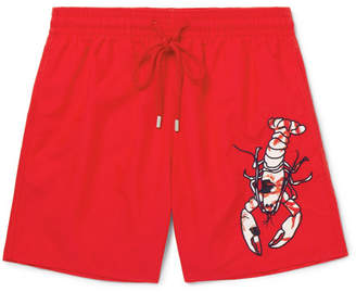 Vilebrequin Motu Slim-Fit Mid-Length Appliquéd Swim Shorts