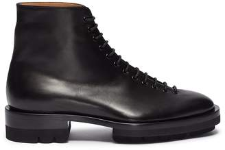 Jil Sander Leather combat boots
