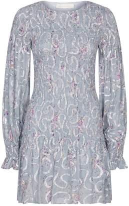 LoveShackFancy Love Shack Fancy Scarlett Metallic Mini Dress