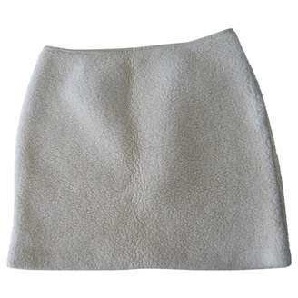 JC de CASTELBAJAC Ecru Wool Skirt for Women