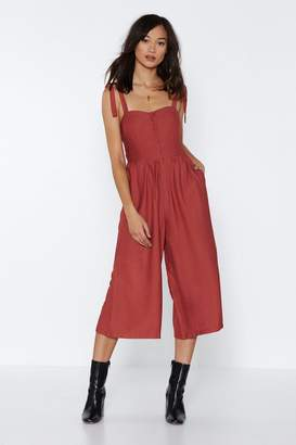 Nasty Gal Tie It Over Jumpsuit