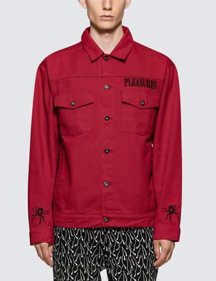 Red Denim Jacket Men Shopstyle