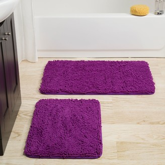 Portsmouth Home 2-piece Memory Foam Shag Bath Mat