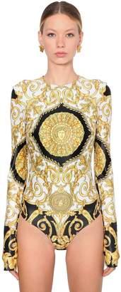 Versace Printed Lycra Bodysuit