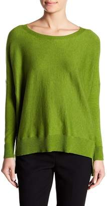 Eileen Fisher Boatneck Hi-Lo Knit Sweater