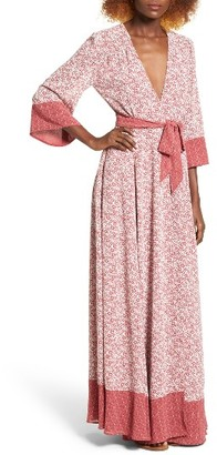 Women's Tularosa Jolene Wrap Maxi Dress $218 thestylecure.com