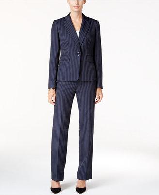 Le Suit One-Button Pinstriped Pantsuit $200 thestylecure.com