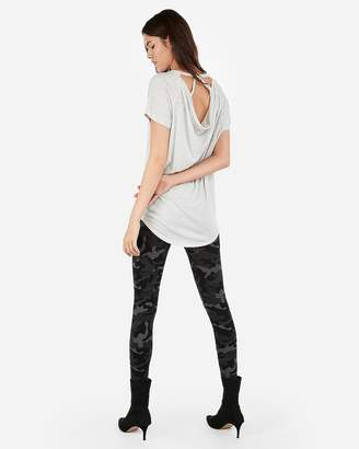 Express One Eleven Heather Strappy Back London Tee