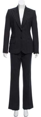 Dolce & Gabbana Pin-Striped Wool Pantsuit