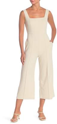 Donna Morgan Square Neck Sleeveless Crepe Wide Leg Jumpsuit