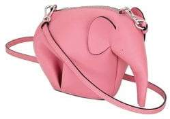 Loewe Mini Leather Elephant Crossbody Bag