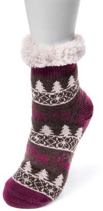 Muk Luks Women's Fluffy Gripper Socks