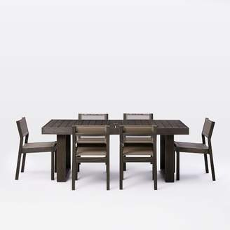 west elm Portside Expandable Dining Table + Chair Set - Weathered Café