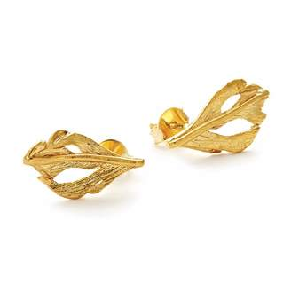 Fly London Chupi - I Can Baby Swan Feather Stud Earrings Gold