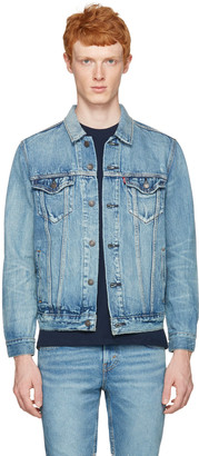 Levi's Blue Denim Trucker Jacket $140 thestylecure.com