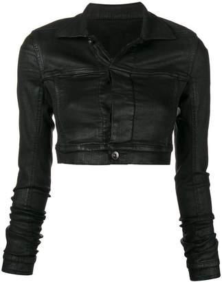 Rick Owens waxed cropped jacket