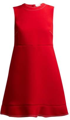 RED Valentino Topstitched Bow Flared Hem Dress - Womens - Red