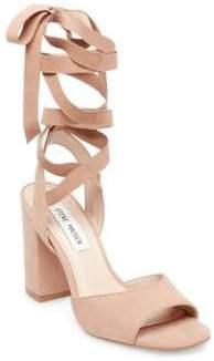 Steve Madden Kenny Lace-Up Suede Dress Sandals