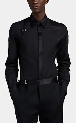 Alexander McQueen Men's Striped Poplin Harness Shirt - Black