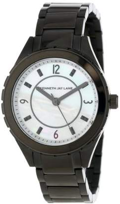 Kenneth Jay Lane Women's KJLANE-2223 Dial Black Ion-Plated Stainless Steel Watch
