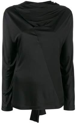 Cédric Charlier draped neck blouse