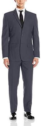Greg Norman Men's Two Button Center Vent Suit with Flap Pockets