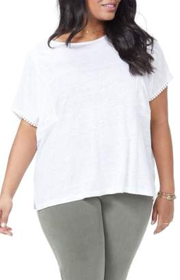 NYDJ Lace Detail Linen Tee