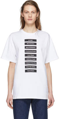 Raf Simons White Wording T-Shirt